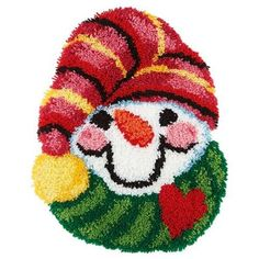 Craftways® Holiday Snowman Latch Hook Kit - Herrschners