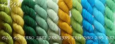 KOIGU, KOIGU WOOL DESIGNS Colours - Hand dyed solids