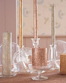Add sparkling touches around your home with our simple, glittered decorations. , thanks Casey!
