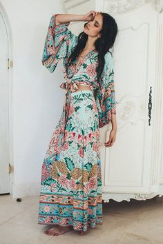 Lotus Floral Maxi Blouse And Skirt Set – Bohemianquintessence