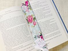 A personal favorite from my Etsy shop https://www.etsy.com/listing/211420796/fabric-romantic-bookmark-shabby-chic