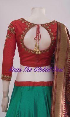 New Saree Blouse Designs, Choli Blouse Design, Blouse Designs High Neck, Choli Designs, Lehenga Designs, Mehandi Designs, Kurta Designs, Blouse Styles, Tattoo Designs