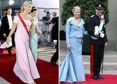 Dette ser ut til å være en sikker vinner for Mette-Marit. I 2008 kom hun i bryllup en nydelig rosa kjole, mens hun fire år tidligere kom i bryllup i en blå Valentino-kjole.NTB Scanpix