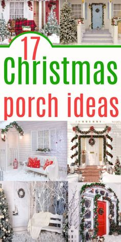 Front Porch Decorating Ideas For Christmas that you can recreate on a budget. Scour thrift stores for the best festive porch looks.