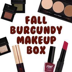 New Arrival @memebox_usa XO Fall Burgundy Makeup Box  #memebox