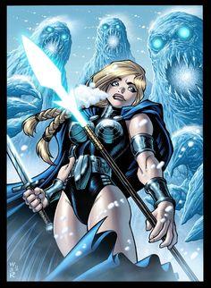 Marvel's Valkyrie by Adam Warren