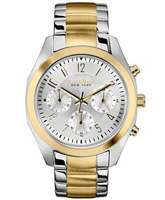 Caravelle New York by Bulova Women's Chronograph Two-Tone Stainless Steel Bracelet Watch 36mm 45L136
