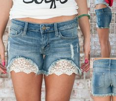 Image result for lace and denim