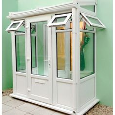x UPVC lean to entrance porch built to meet your requirements. made to measure for a DIY installation. Screened In Porch, Porch Swing, Front Porch, Upvc Porches, Simple Porch Designs, Porch Enclosures, Basement Entrance, Porch Kits, Porch Addition