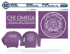 Chi Omega Initiation Sweatshirt