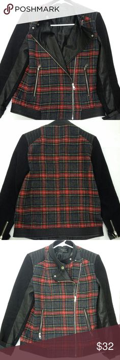 Zara Women's Jacket/Coat Wool Black/Red Check M Condition: good pre-owned. There are signs of wear-check the pictures. Size: M. Color: Black/Red Check. Zara Jackets & Coats