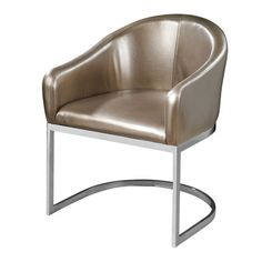 A chic addition to your living room or library, this midcentury-inspired accent chair showcases a barrel-style seat and faux leather upholstery....