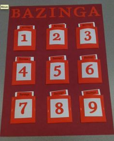 Bazinga - an awesome review game for most any subject and any grade. Students are in teams, I ask questions, and the students answers them.  If a team is correct they have the chance to pick a Bazinga Card and we do what it says (e.g. double your score, erase 1 point  from another team, switch  the team captain of the winning team with the team captain of the losing team, etc.).
