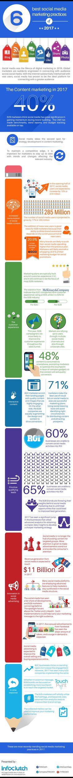 6 Best Social Media Marketing Practices Of 2017 #Infographic #Marketing #SocialMedia