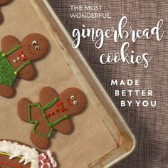 The Most Wonderful Gingerbread Cookies Note: Bake on convection for only minutes Christmas Goodies, Christmas Desserts, Christmas Treats, Holiday Treats, Holiday Recipes, Apple Recipes, Healthy Recipes, Ginger Bread Cookies Recipe, Ginger Cookies