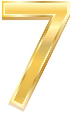 Gold Style Number Seven PNG Clip Art Image