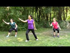Tai chi is a gentle exercise that prevents falls by improving balance & strength. These 3 tai chi videos for seniors are simple free & easy to do at home. Balance Exercises, Chair Exercises, Stretching Exercises, Stretches, Qi Gong, Tai Chi Video, Tai Chi Exercise, Tai Chi For Beginners, Tai Chi Qigong