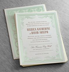 Foil Wedding Invitations Available at Salutations
