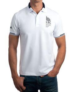 Polo Lacoste blanco   Polo Lacoste estilo naútico  Polo Lacoste 96% algodón 4% elastano Polos Lacoste, Lacoste Men, Polo Rugby Shirt, Polo T Shirts, Camisa Polo, Simple Shirts, Casual T Shirts, Polo Shirt Outfits, Polo Shirt Design
