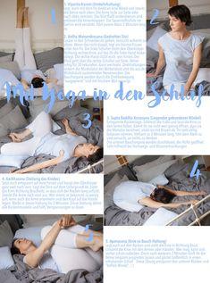 Mit Yoga besser schlafen, Better Sleep with Yoga, sleep, sleeping, sleeping room, bed, grey, blue, stripes, yoga