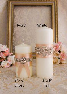 Rose Gold Unity Candle Set Rose Gold Wedding Unity Candles Blush Wedding Candle Personalized Unity C Wedding Unity Candles, Romantic Candles, Taper Candles, Diy Candles, Candels, Rhinestone Wedding, Gold Wedding, Candle Set, Wedding Accessories
