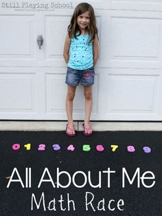 All About Me Math Race : All About Me Preschool Unit: Kids race to get numbers to answer questions! Preschool Family Theme, Preschool Math Games, Kindergarten Learning, Preschool Lessons, Fun Math, Preschool Classroom, Math Activities, Classroom Ideas, Preschool Ideas