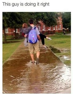 He could've gone around the puddle...