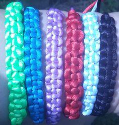 Bright macramé bracelets
