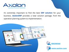 AxolonERP offers you the exact management solution for your business which you are looking for. Grow your company with AxolonERP.  For more details, you can visit our website www.AxolonERP.com or call us at our toll-free number ☎ 800296566.  #ERPSoftware #ERPSolution #ERPServices #ERP #EnterpriseResourcePlanning #CustomizedERP #Axolon #AxolonERP #BusinessERP #Automation #ERPSoftwareDubai #ERPSolutionDubai #ERPSoftwareUAE #ERPSolutionUAE #ERPSoftwareOman #ERPSolutionOman Business Goals, Business Management, Accounting Software, Day Work, Supply Chain, Derp, Human Resources, Project Management, Fun Projects