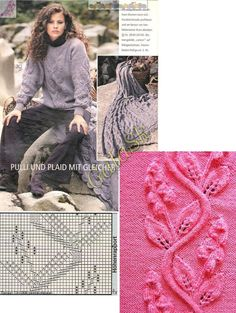 leaf lace knitting