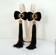 Diy Tassel Earrings, Tassel Jewelry, Textile Jewelry, Earrings Handmade, Bridal Jewelry, Diy Jewelry, Beaded Jewelry, Jewelery, Jewelry Design
