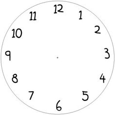 Printable Clock Templates | Here are a few examples: | DIY ...