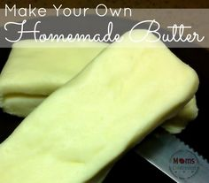 Homemade Butter Recipe In an effort to slowly removed processed foods from our home, we are now using our own homemade butter recipe each week! I was so surprised at how easy it is to make that I just ...