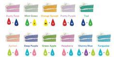 mezclar colores con colorantes de comida - Buscar con Google