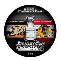 2015 NHL Stanley Cup Playoffs Dueling Puck Anaheim Ducks VS Chicago Blackhawks for sale online Stanley Cup Playoffs, Western Conference, Anaheim Ducks, Hockey Puck, Chicago Blackhawks, Nhl, Finals, Favorite Things, Awesome