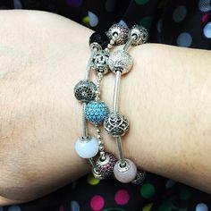 Pandora Essence... Balance... Color... Charms!! Pandora Bangle, Pandora Beads, Pandora Bracelet Charms, Pandora Jewelry, Charm Jewelry, Pandora Essence Collection, Wardrobe Basics, Couture, Jewelery