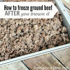 How to Freeze Ground beef after you brown it and how it saves you money and time in the kitchen.