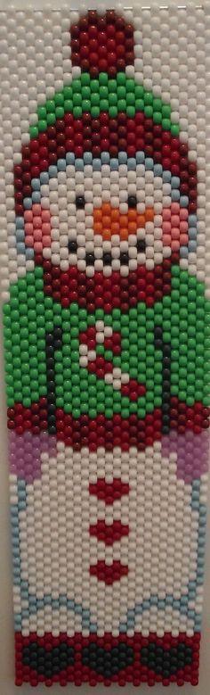 Snowman Beaded Banner made by Kareyak Creations