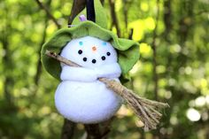 Pointy Hat Gang Witch Ornament Witch Snowgirl by WyvernDesignsHome
