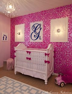 personalized wooden wall monogram baby girl roomslittle baby themed rooms - Baby Themed Rooms