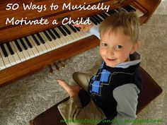 This is an awesome list! 50 ideas to get your children to practice more consistently, learn songs faster, perform better at recitals, and develop a life-long love of music.