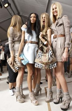 Burberry backstage