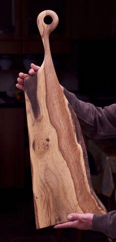 Oak wood serving board Made in Italy
