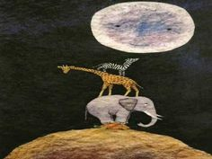 Cuento. ¿A qué sabe la luna? Un cuento es español en el que los animales querían saber a que sabe la luna.