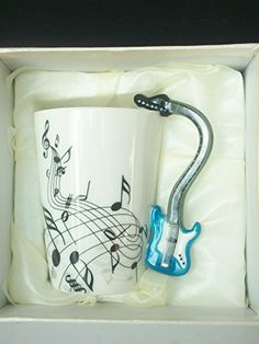 Keramik tasse E-Gitarre Griff, Musik Noten Tasse Kaffee T... https://www.amazon.de/dp/B00UAJPW7W/?m=A37R2BYHN7XPNV