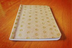 Handpainted Notebook with Gold Dots Pocket Journal by SlimNote, $6.00