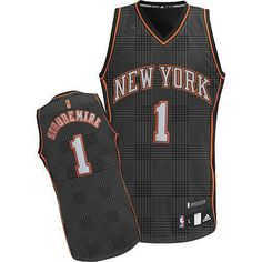 Authentic Adidas New York Knicks #1 Amar\u0026#39;e Stoudemire Black Rhythm Fashion Men NBA