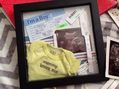 DIY Birth shadow box