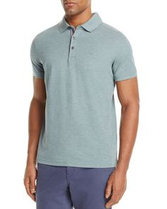 Michael Kors Ribbon Trim Pique Slim Fit Polo Shirt