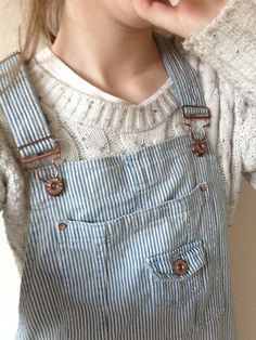 Dungarees × sweater